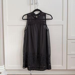 TOPSHOP | Lace Sheer Black Dress